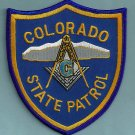 Colorado State Patrol Masonic Lodge Police Patch