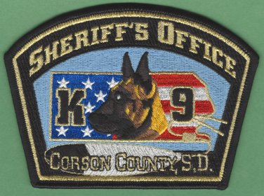 Corson County Sheriff South Dakota Police K-9 Unit Patch