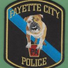 Fayette City Pennsylvania Police Patch