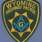 Wyoming Highway Patrol Masonic Lodge Police Patch