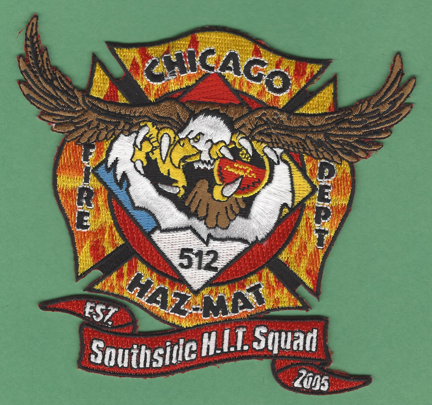 Chicago Fire Department Hazardous Materials Company 512 Patch