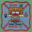 Boston Fire Department Engine Company 56 Fire Patch