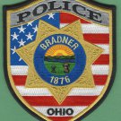 Bradner Ohio Police Patch