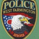 West Farmington Ohio Police Patch