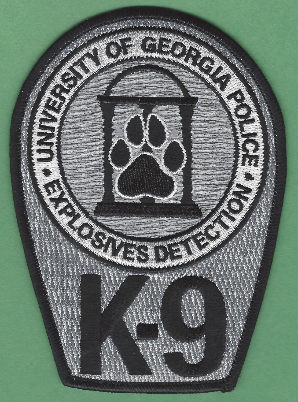 University of Georgia Police Explosives Detection K-9 Unit Patch