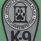 University of Georgia Police Explosives Detection K-9 Unit Patch