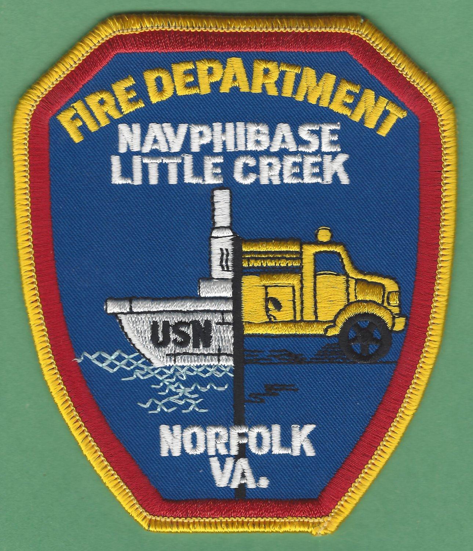 Little Creek Virginia Naval Amphibious Base Fire Rescue Patch