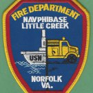 Little Creek Virginia Naval Amphibious Base Fire Rescue Patch