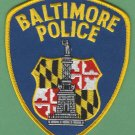 Baltimore City Maryland Police Patch