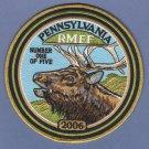 "Pennsylvania Rocky Mountain Elk Foundation 2006 Hunting Patch 6"""
