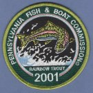 Pennsylvania Fish & Boat Commission 2001 Rainbow Trout Patch
