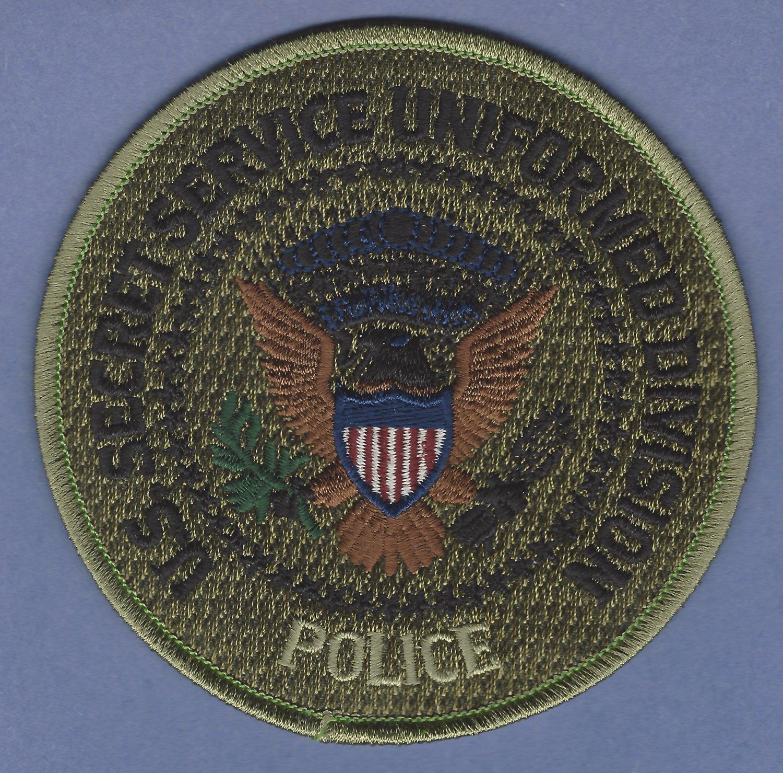 UNITED STATES SECRET SERVICE UNIFORM DIVISION PATCH SUBDUED GREEN