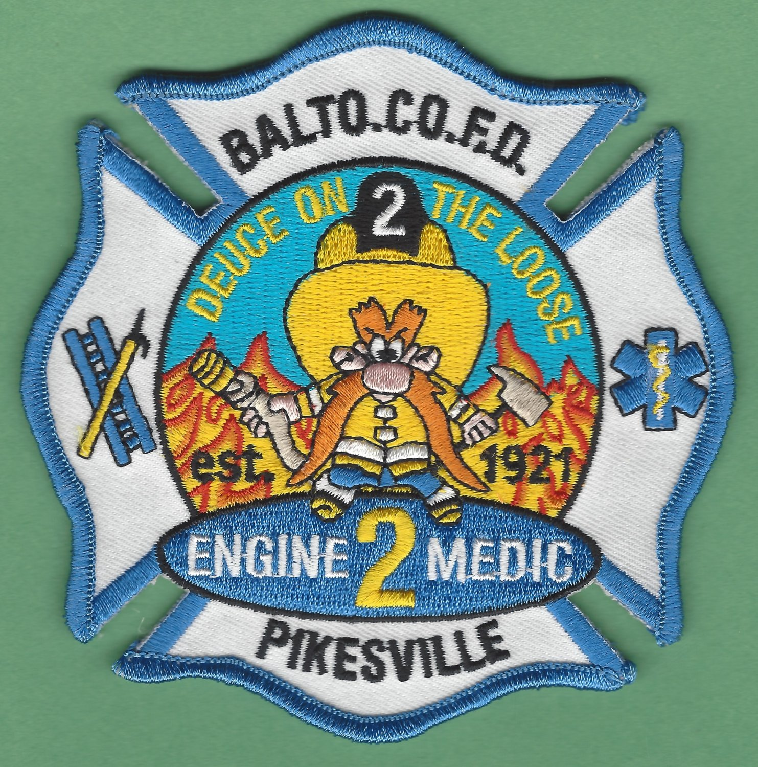 Baltimore County Fire Department Engine Company 2 Fire Patch