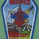 Warwick Rhode Island Technical Rescue Team Fire Patch
