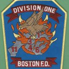 Boston Fire Department Division Chief 1 Company Fire Patch