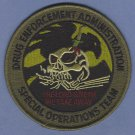 DEA Drug Enforcement Administration Special Operations Team Patch Green