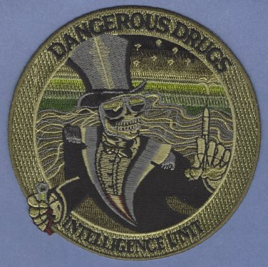 DEA Drug Enforcement Administration Dangerous Drugs Intelligence Unit Patch Green