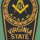 Virginia State Police Masonic Lodge Patch