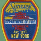 Syracuse New York Fire Patch