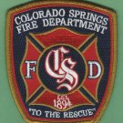 Colorado Springs Colorado Fire Patch