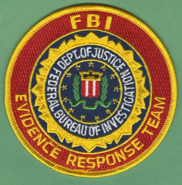 FBI Federal Bureau of Investigation Evidence Response Team Patch