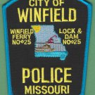 Winfield Missouri Police Patch