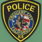 Crescent City California Police K-9 Unit Patch