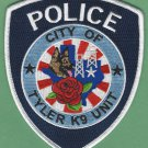 Tyler Texas Police K-9 Unit Patch