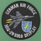 GERMAN AIR FORCE MIG-29 SOLO DISPLAY MILITARY FIGHTER AIRCRAFT PATCH