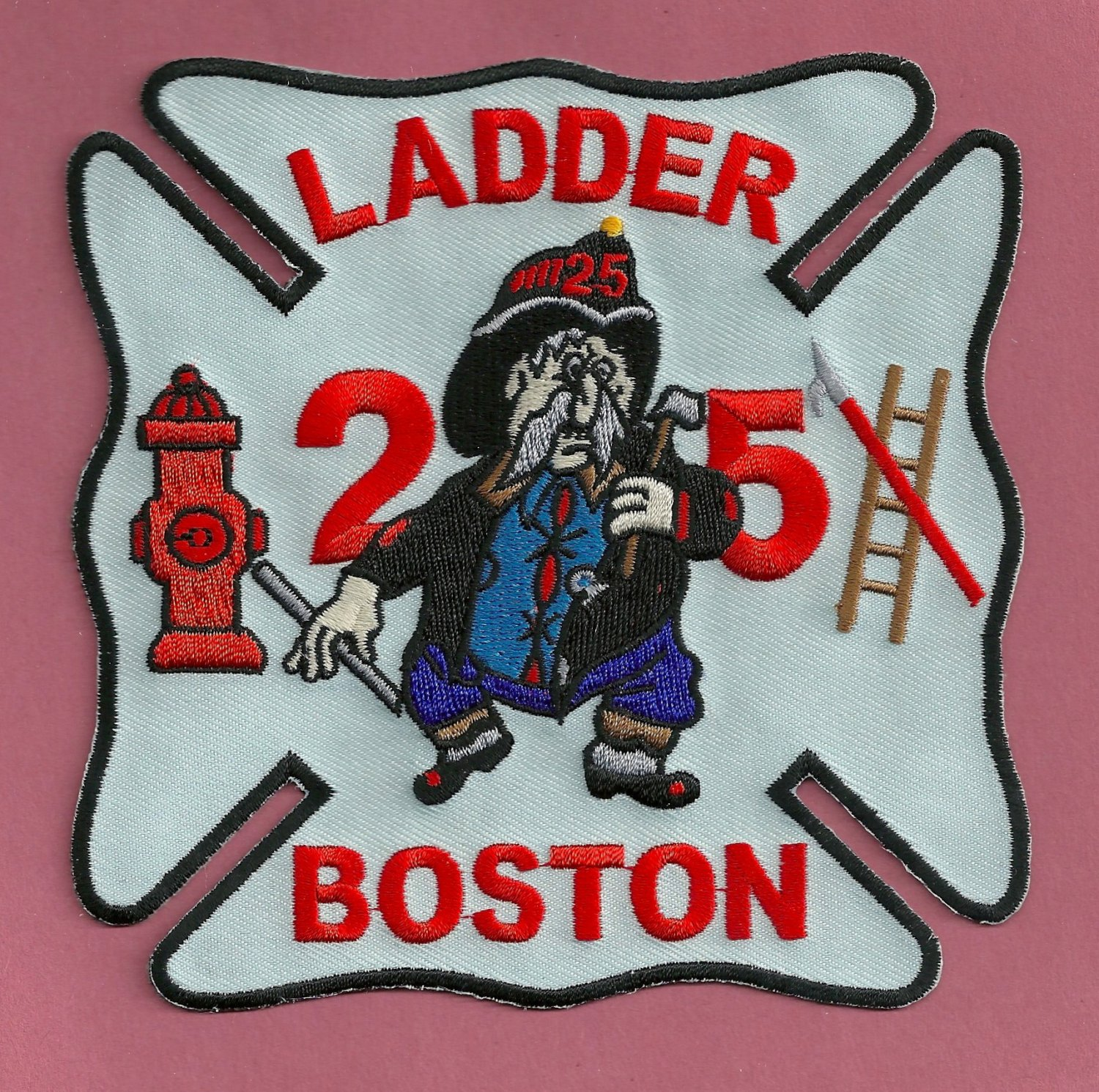 Boston Fire Department Ladder Company 25 Patch