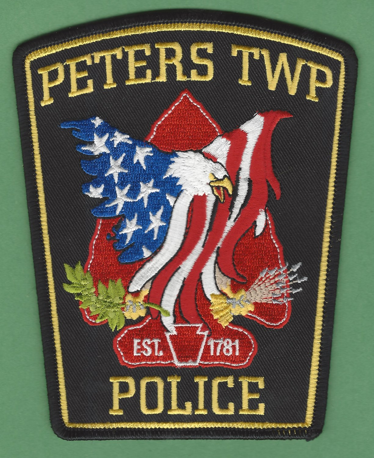 Peters Township Pennsylvania Police Patch