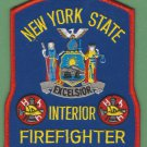 New York State Certified Interior Fire Fighter Patch