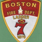 Boston Fire Department Ladder Company 7 Patch