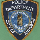 Audubon New Jersey Police Patch