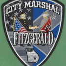 Fitzgerald Marshal Georgia Police Patch