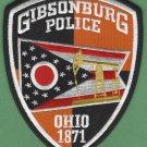 Gibsonburg Ohio Police Patch