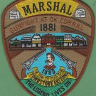 Tombstone Marshal Arizona Police Patch