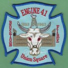 Boston Fire Department Engine Company 41 Fire Patch