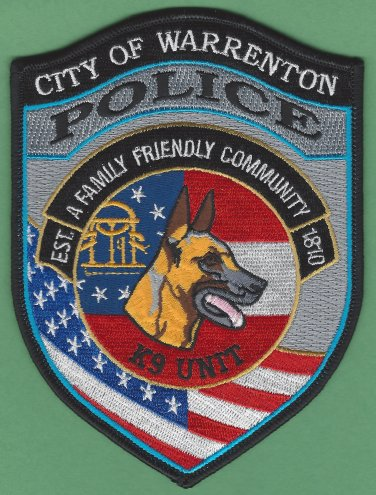 Warrenton Georgia Police K-9 Unit Patch