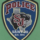 Saint Jo Texas Police Patch