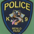 Menlo Park California Police K-9 Unit Patch German Shepherd