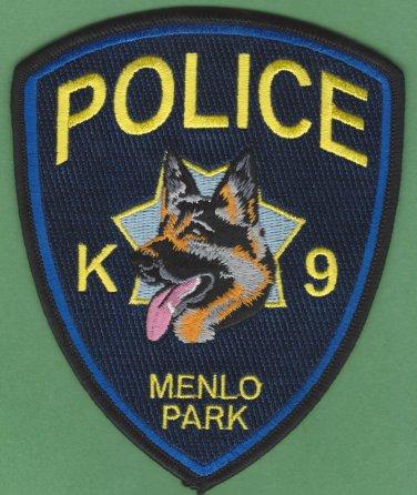 Menlo Park California Police K-9 Unit Patch German Shepherd