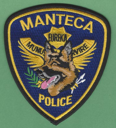 Manteca California Police K-9 Unit Patch German Shepherd