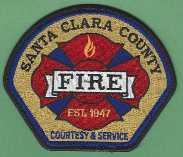 Santa Clara County California Fire Rescue Patch
