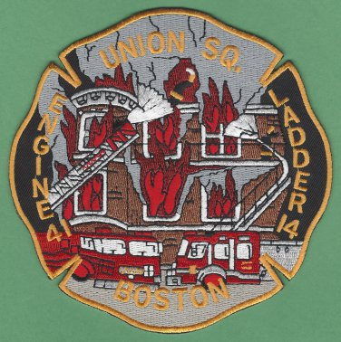 Boston Fire Department Engine 41 Ladder 14 Fire Company Patch