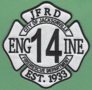 Jacksonville Fire Department Engine Company 14 Patch