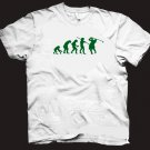 Evolution of a golfer t-shirt.  Funny golf tshirt.  Size L