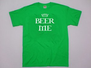 Beer Me T-shirt. Funny bar college party crowd shirt.  Size S