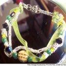 Asian Inspired Satin Ribbon Bracelet