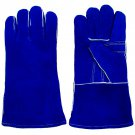 Welding Gloves Trademark Tools 100% Leather Premium Blue